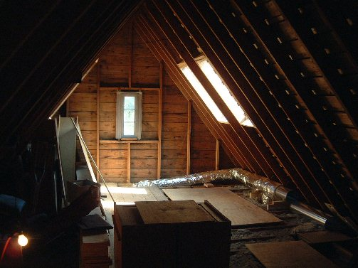 attic ladder ideas - In the meantime the drains put in for the master